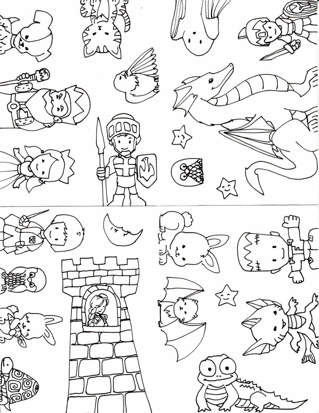 Kid Sketches: Pop-Up Castle Templates and Samples