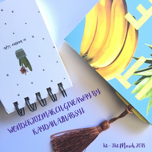 Wonderful March Giveaway by Raydah Alhabsyi