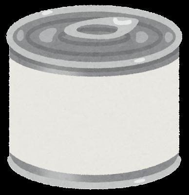 缶詰のイラスト(ブランク)
