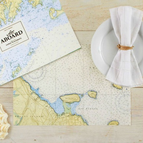 Nautical Chart Placemats