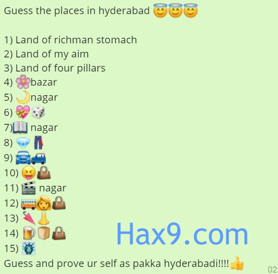 Guess the Places in Hyderabad