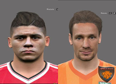 PES 2016 Marcos Rojo & Debuchy Face by Alief