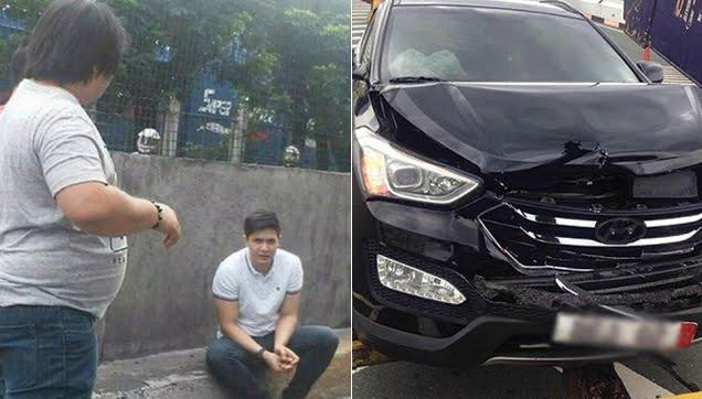 Alden Richards unharmed in car accident