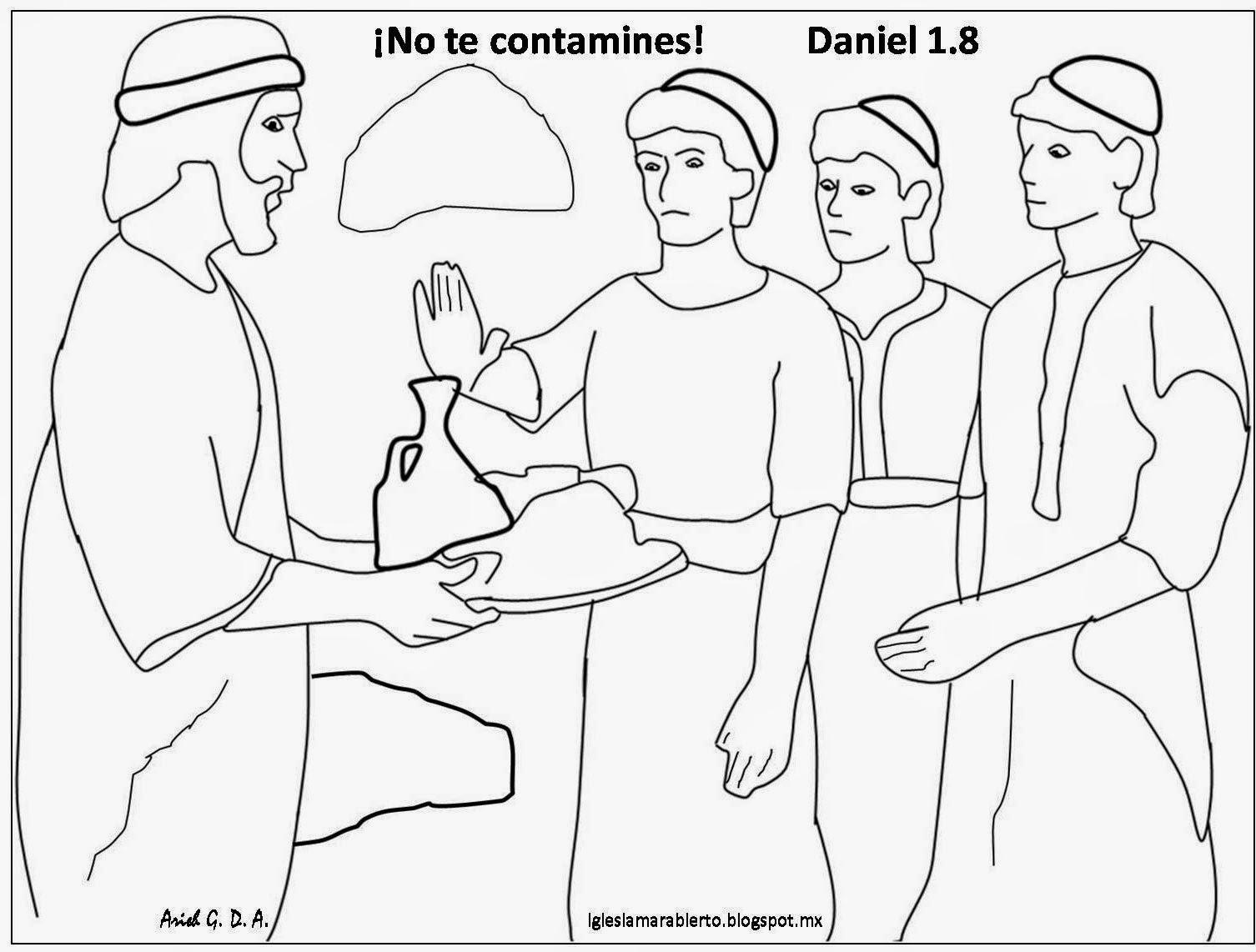 Increíble Daniel Para Colorear Molde - Enmarcado Para Colorear ...