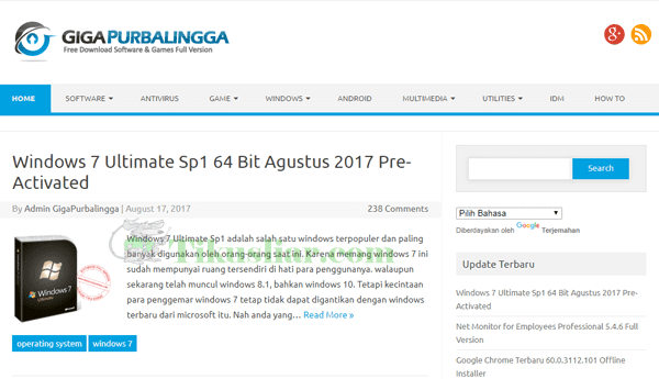 Situs Website Tempat Download Software Full Version Terlengkap Gratis