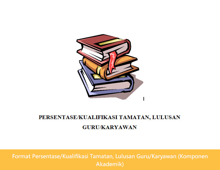 Format Persentase/Kualifikasi Tamatan, Lulusan Guru/Karyawan (Komponen Akademik)