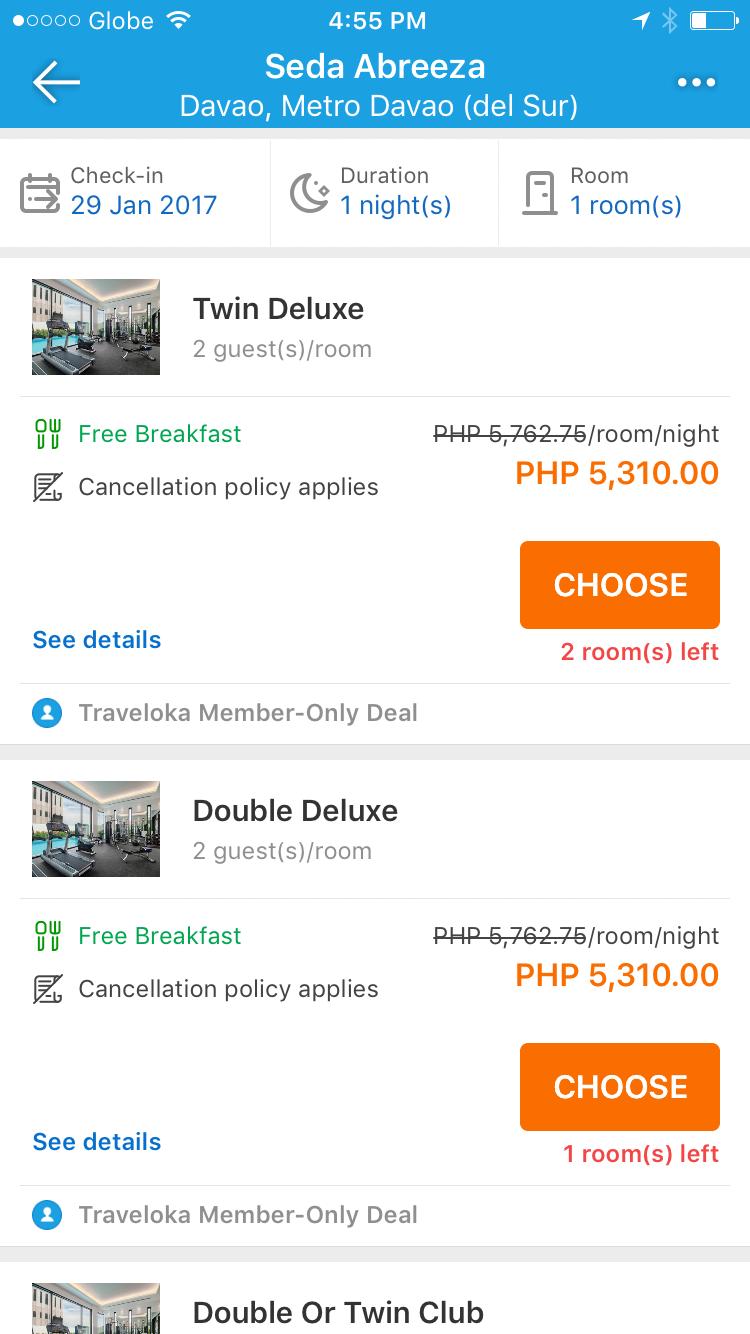 Staycation at Seda Abreeza Hotel Booked via Traveloka