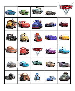 Cars 3 activites