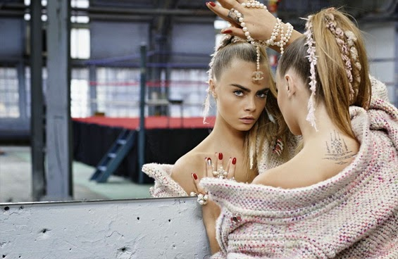 Cara Delevingne Topshop and Chanel