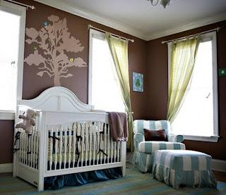 dormitorio bebé chocolate celeste