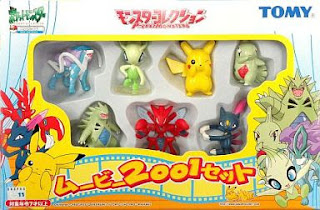 Pokemon figure Tomy Monster Collection 2001 movie set