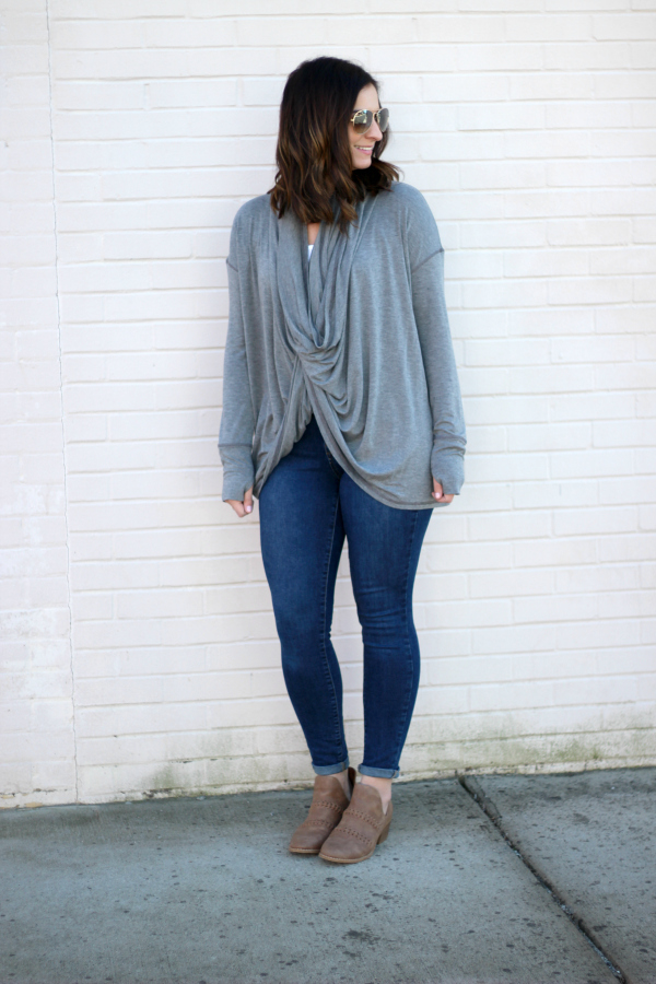 mom style, north carolina blogger, casual style, convertible cardigan, style on a budget
