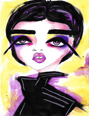 Bebee Pino different shades of  purple