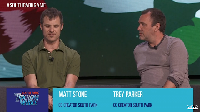 Matt Stone Trey Parker South Park The Fractured but Whole Ubisoft E3 2016