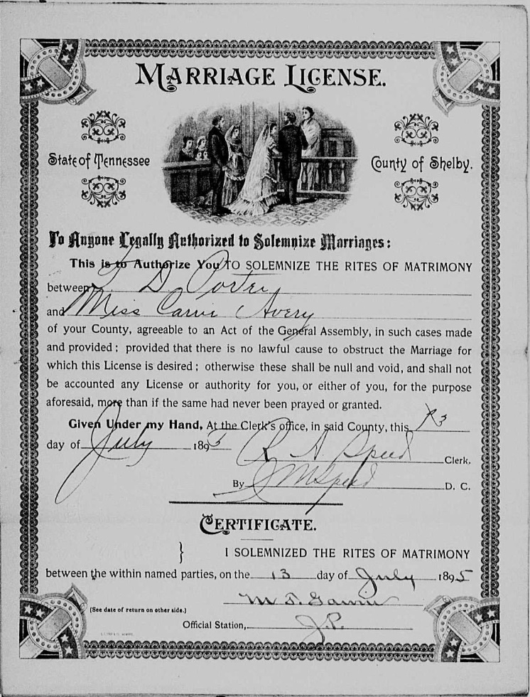 Ancestry Island Finally Found It Marriage License For Carrie Avery