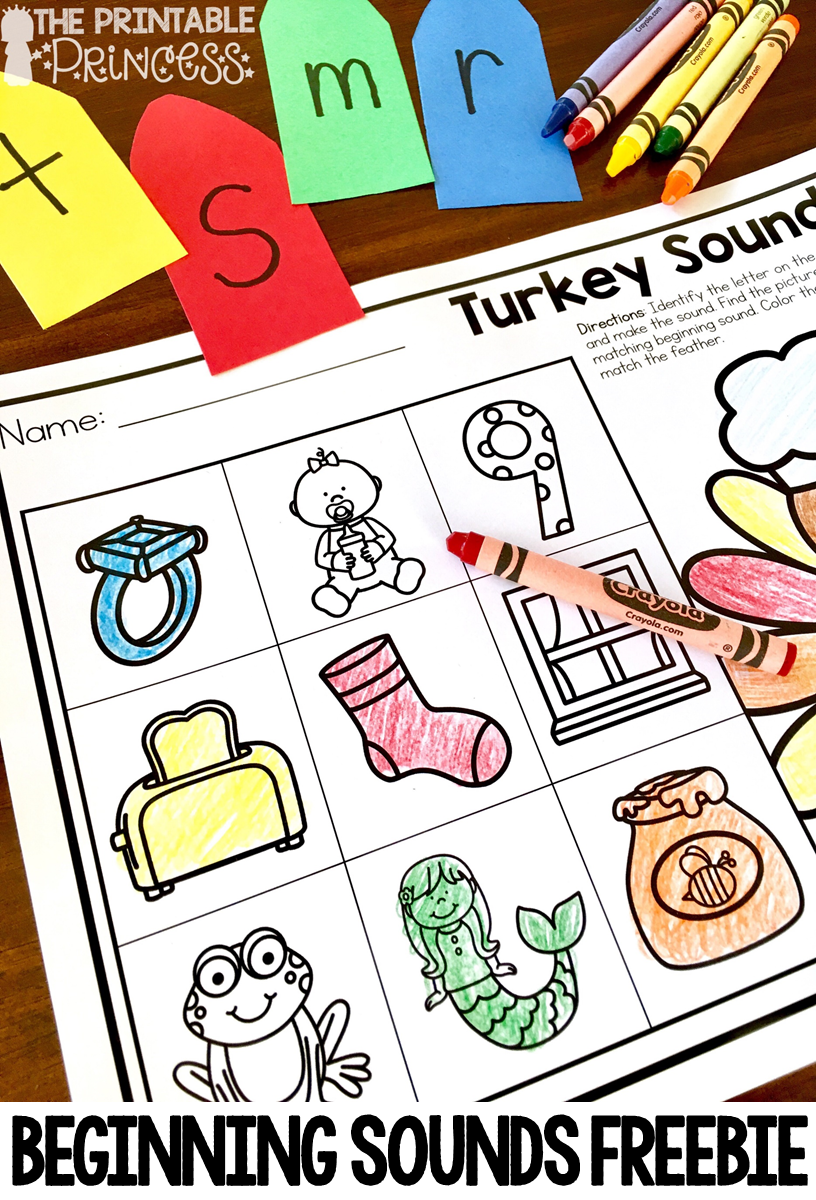 the printable princess thanksgiving games and centers for