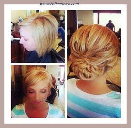 Peinados recogidos de noche cabello corto
