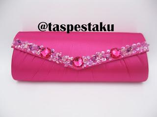 Handmade Tas Pesta Clutch Bag Pink Fanta Unik dan Lucu