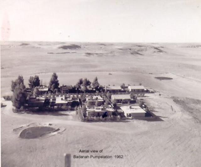 محطة التابلين في وادي بدنة والذي بعده نشأت مدينة عرعر 1962م