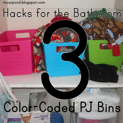 5 Hacks for the Bathroom from In Our Pond  #toddler  #pottytraining  #kids  #children  #bathroom  #organizing