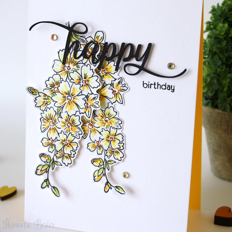 Hannelie Bester - Altenew starry flower birthday card