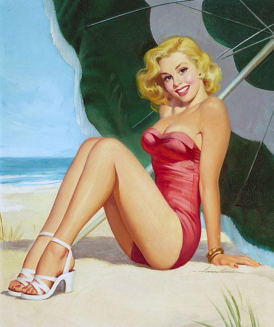 Vintage Paintings of Beautiful Woman's 20