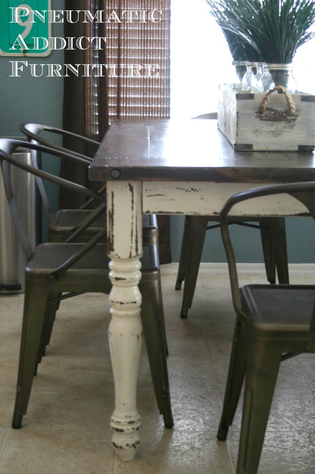 industrial farmhouse table redo kitchen table