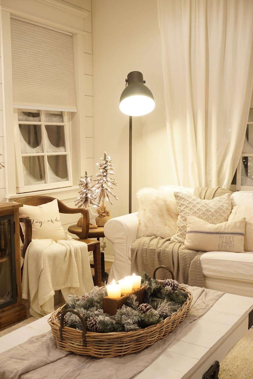 Cozy Christmas Living Room Night Tour - Mrs Rollman Blog on