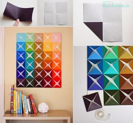hobby dan kreasi  Hiasan Dinding dari Kertas (Origami) eae0c1d158