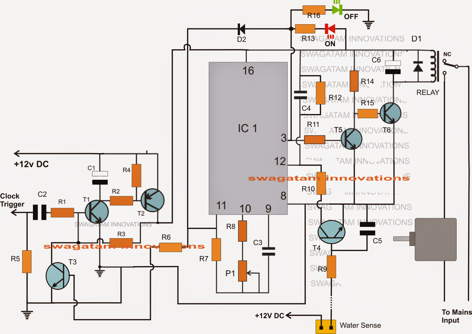 Liquid Level Controller Circuit Diagram Xs650 Wiring Pamco Ignition Real Time Activated Water Timer