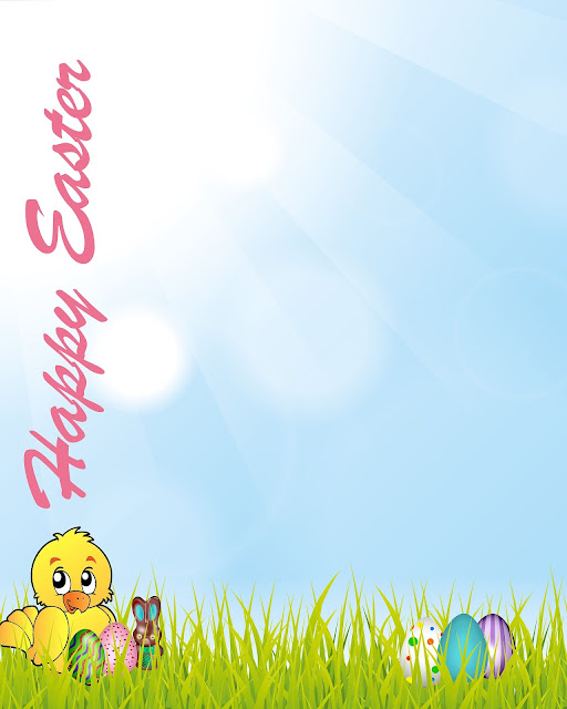 Happy Easter Sunday Printable & Editable Card