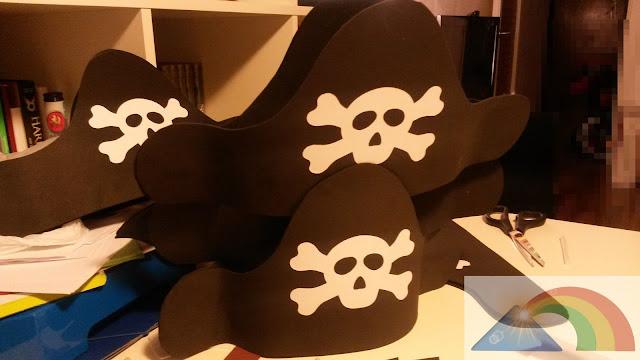 Gorro pirata terminado