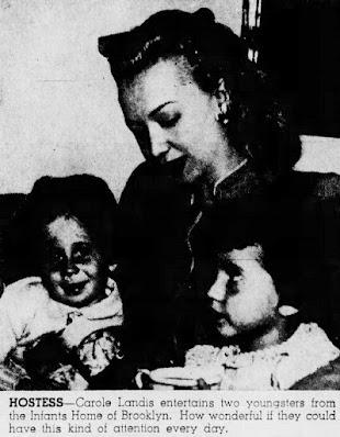 Carole Landis With Children