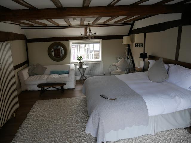 The spacious Renaissance room at Swan House B&B, Hastings