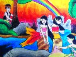Membaca Buku Cerita Bergambar Jaka Tarub