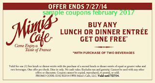 Mimis Cafe coupons for february 2017