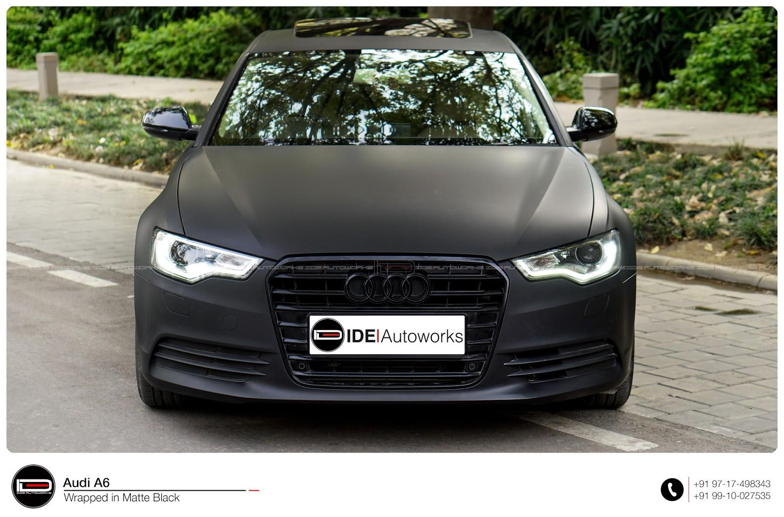 Audi A6 Matte Black Wrap Ide Autoworks
