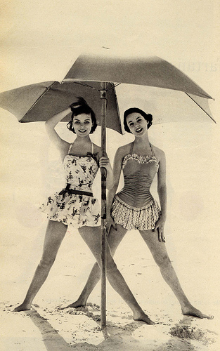 50s Inspired Bathing Suit
