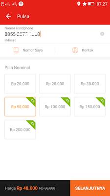 Cara Membeli Pulsa Indosat Im3 Ooredoo dengan Voucher Akulaku Android