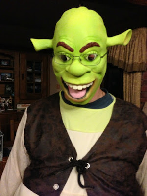 Life Before the Hubby | Morgan's Milieu: The Hubby dressed up as Shrek for Halloween.