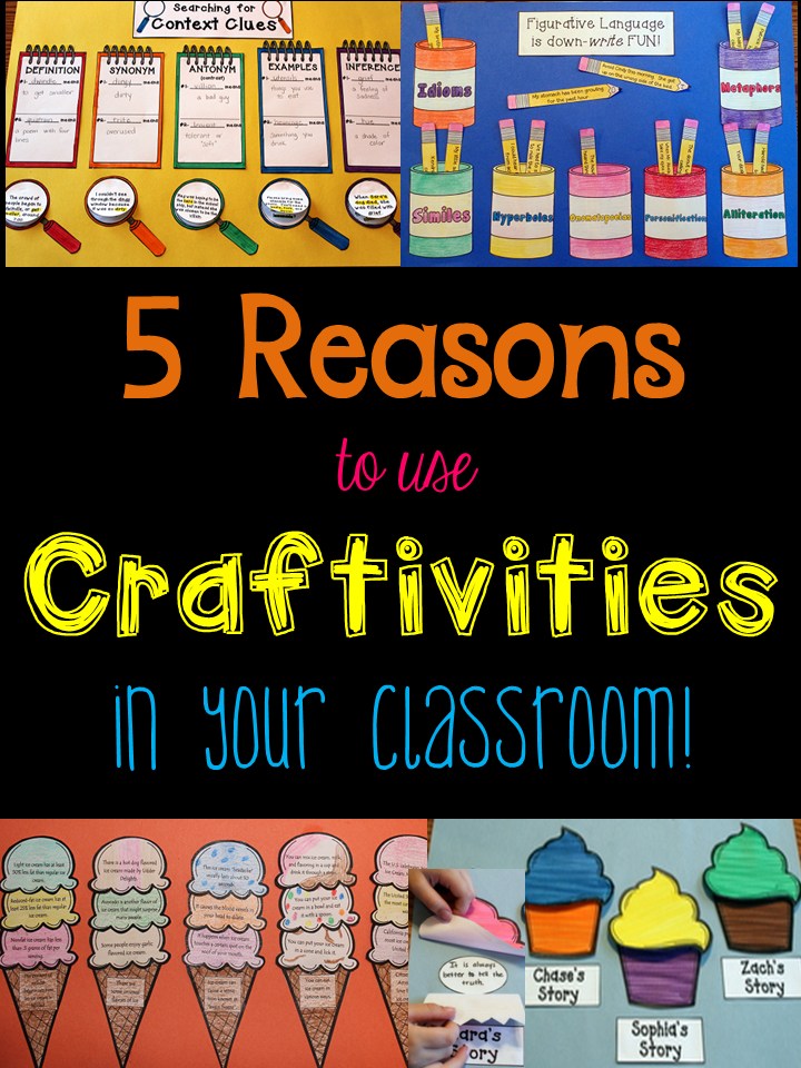 Why use craftivities in an upper elementary classroom? This blog post lists my five top reasons why I love using craftivities with this age group! Includes a link to a FREE craftivity!