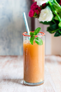 Indian mocktail made with guava and spices