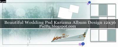 Beautiful Wedding Psd Karizma Album Design