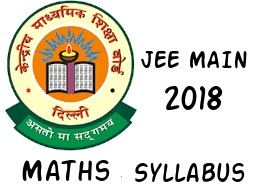 Jee main Mathematics Syllabus