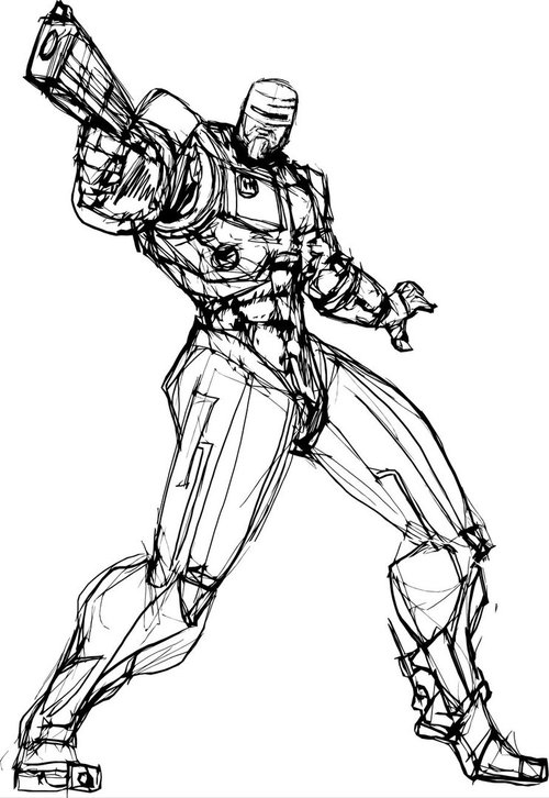Free Coloring Pages : Robocop coloring pages For Kids