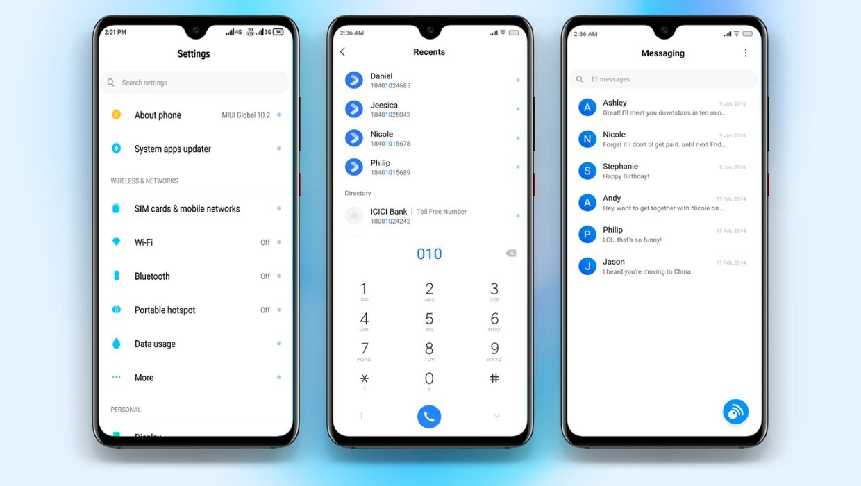 Blue Material MIUI Theme | For MIUI 10 & MIUI 11 Devices
