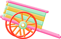 Carroça colorida