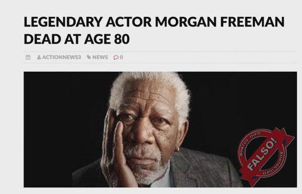 Morgan Freeman morreu aos 80 anos? Boato