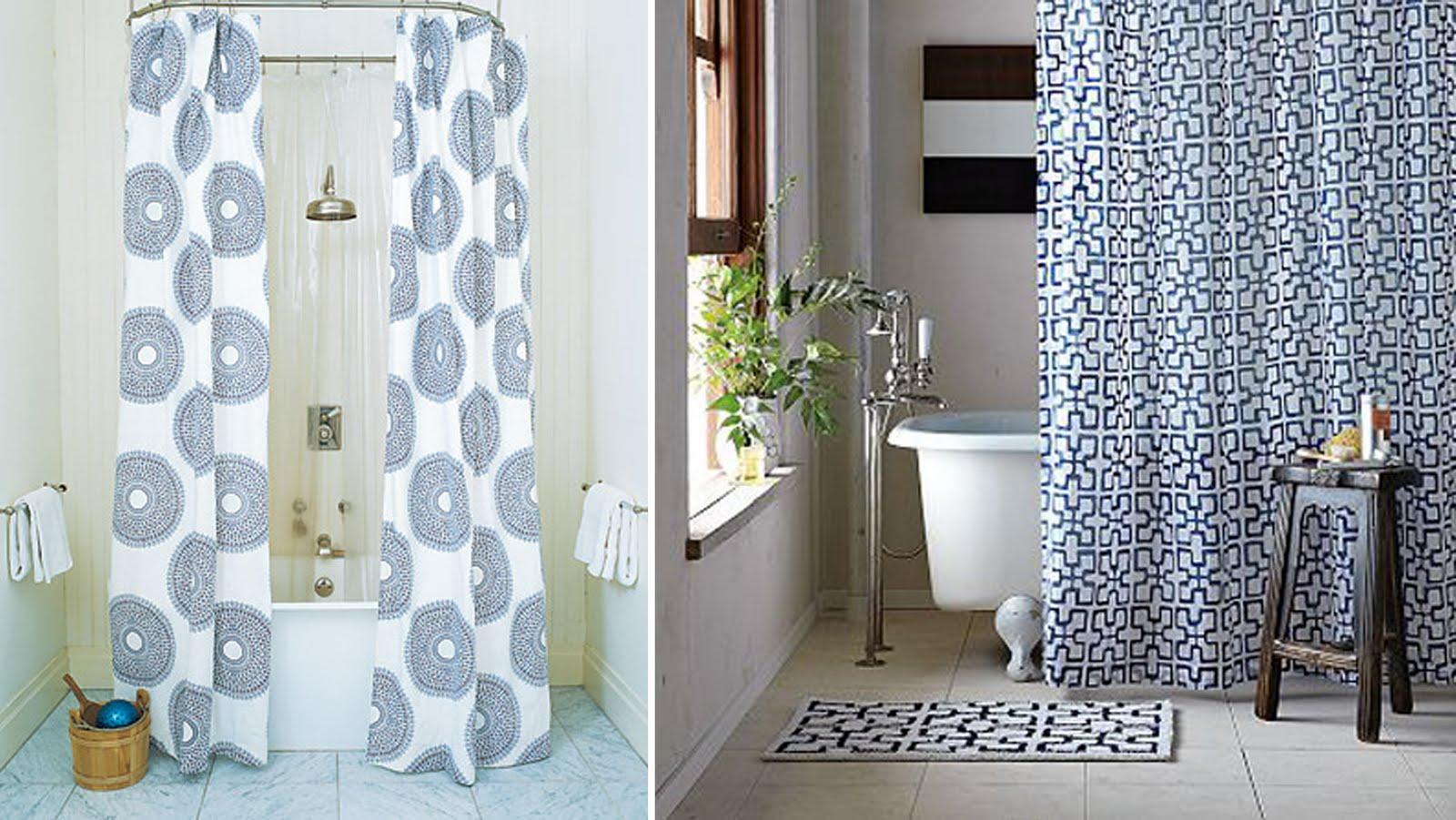 A Designer's Nest: { Shower Curtains }