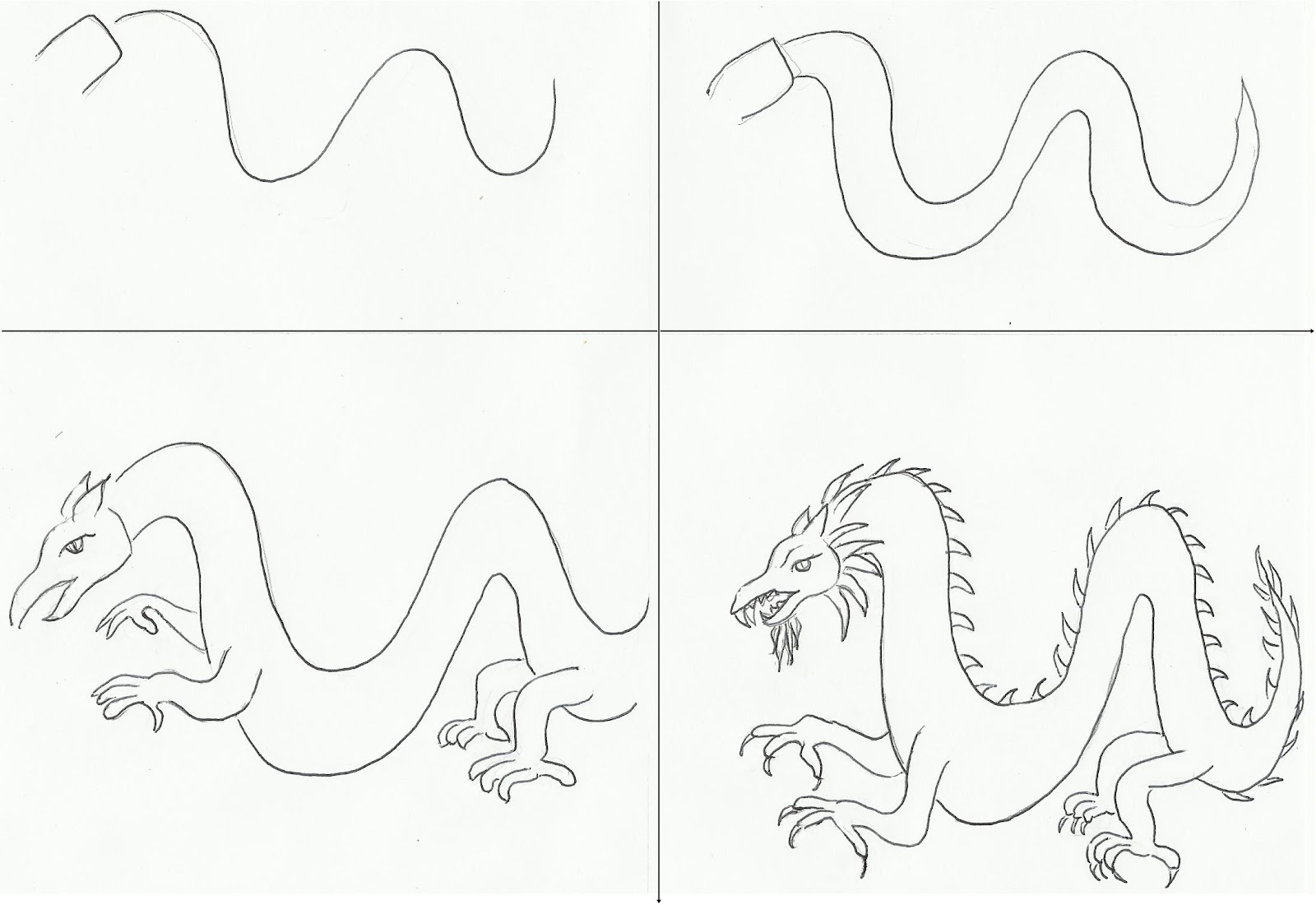 Easy Dragon Drawings Step By Step How To Draw Dragon Heads Step By Step Dragons  Draw